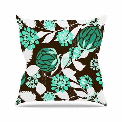 Bold Relief Amy Reber Throw Pillow Size: 16