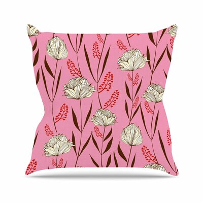 Floral Amy Reber Throw Pillow Size: 18 H x 18 W x 4 D