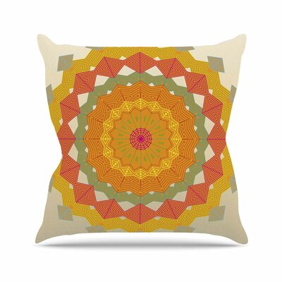 Composition Angelo Carantola Throw Pillow Size: 16 H x 16 W x 4 D, Color: Orange