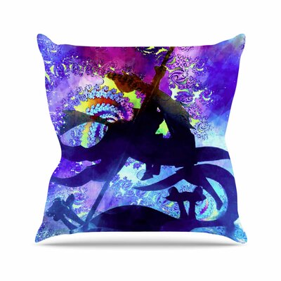 Midnight Horse AlyZen Moonshadow Throw Pillow Size: 16 H x 16 W x 4 D