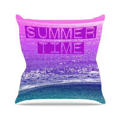 Summer Time Alison Coxon Throw Pillow Size: 18 H x 18 W x 4 D