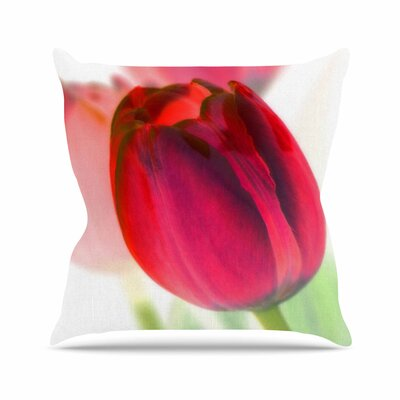 Tulips Alison Coxon Throw Pillow Size: 26 H x 26 W x 4 D