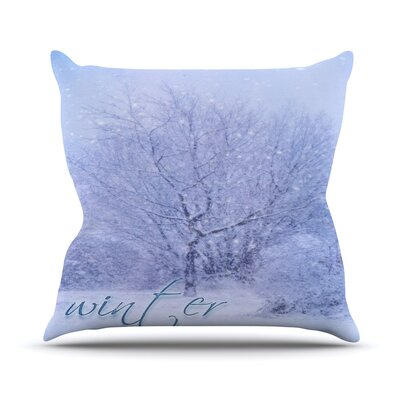 Winter Tree Alison Coxon Throw Pillow Size: 20 H x 20 W x 4 D