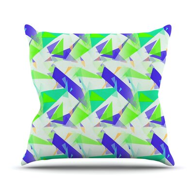 Confetti Triangles by Alison Coxon Throw Pillow Size: 16 x 16, Color: Blue