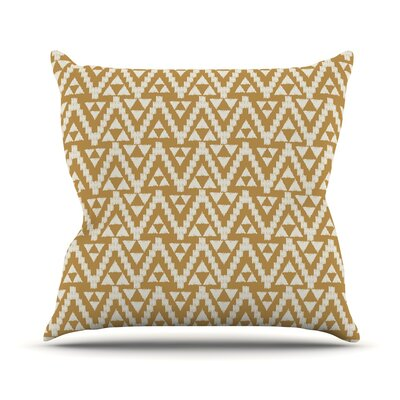 Geo Tribal by Amanda Lane Throw Pillow Size: 18 x 18, Color: Mustard
