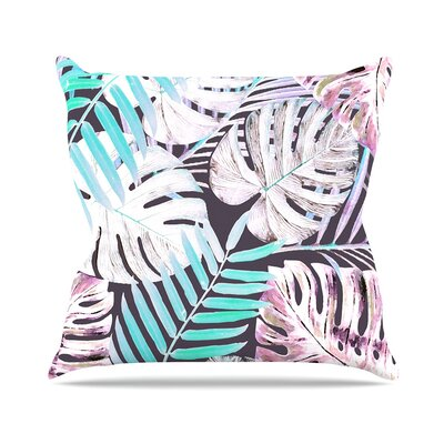 Midnight Jungle by Alison Coxon Throw Pillow Size: 26 H x 26 W x 4 D, Color: Green