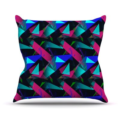 Confetti Triangles by Alison Coxon Throw Pillow Size: 16 x 16, Color: Dark