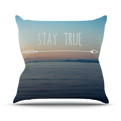 Stay True Ann Barnes Throw Pillow