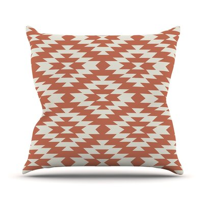 Southwestern Cream by Amanda Lane Throw Pillow Size: 16 x 16, Color: Cream