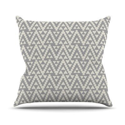 Geo Tribal by Amanda Lane Throw Pillow Size: 16 x 16, Color: Gray