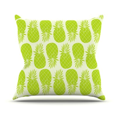 Pinya Lime by Anchobee Throw Pillow Size: 18 x 18, Color: Lime