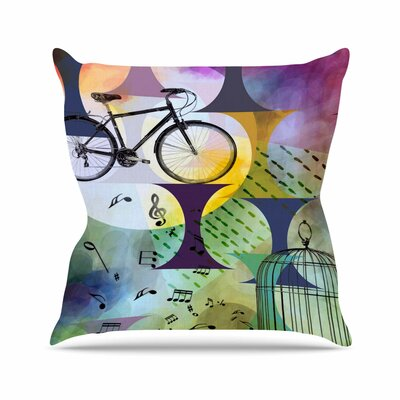 Bike to the Moon AlyZen Moonshadow Throw Pillow