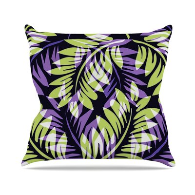 Fern by Alison Coxon Throw Pillow Size: 16 x 16, Color: Dark