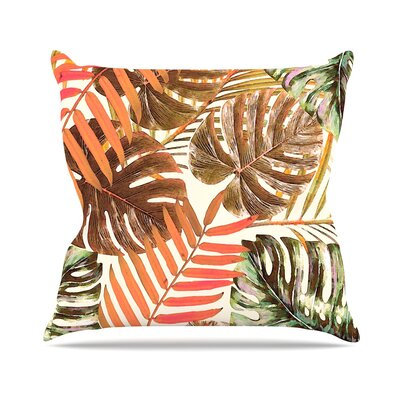 Midnight Jungle by Alison Coxon Throw Pillow Size: 16 x 16, Color: Rust