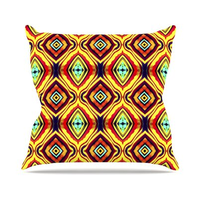 Diamond Light Anne LaBrie Throw Pillow Color: Yellow