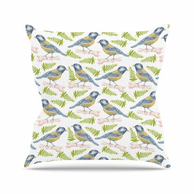 Bird. Tit Alisa Drukman Throw Pillow