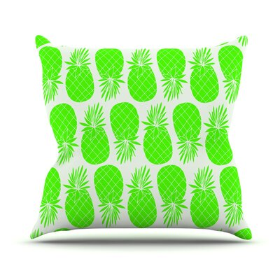 Pinya Lime by Anchobee Throw Pillow Size: 18 x 18, Color: Green