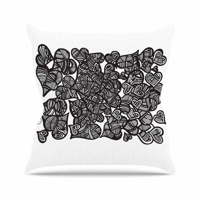 Hidden Hearts Adriana De Leon Throw Pillow