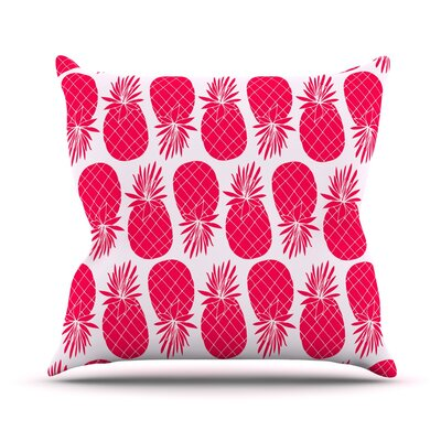Pinya Lime by Anchobee Throw Pillow Size: 18 x 18, Color: Pink