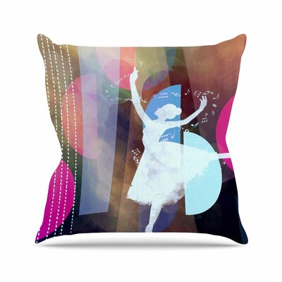 Ballet by Alyzen Moonshadow Throw Pillow Size: 18 x 18, Color: Blue