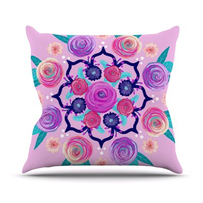 Expressive Blooms Mandala Anneline Sophia Throw Pillow