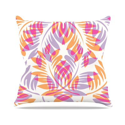 Fern by Alison Coxon Throw Pillow Size: 16 x 16, Color: Summer