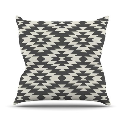 Navajo Cream by Amanda Lane Throw Pillow Size: 18 x 18, Color: Coral