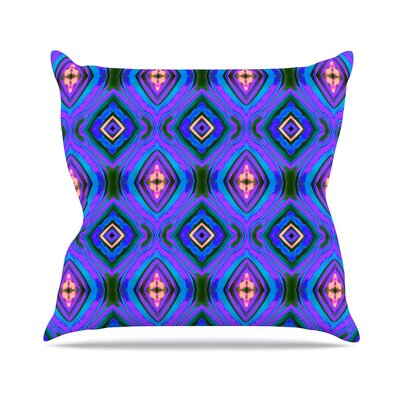 Diamond Light Anne LaBrie Throw Pillow Color: Purple / Blue