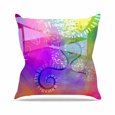 Musical Tendrils AlyZen Moonshadow Throw Pillow