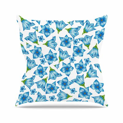 Flowers by Alisa Drukman Throw Pillow Size: 16 x 16