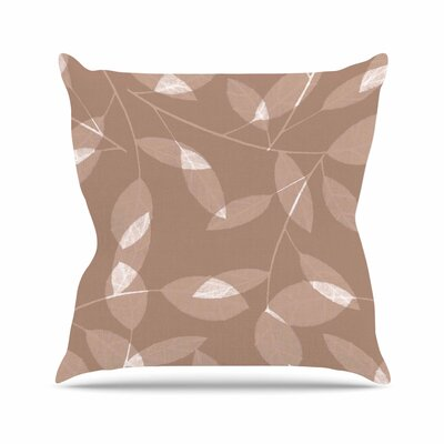Leaf Tawny by Alison Coxon Throw Pillow Size: 16 x 16, Color: Tawny