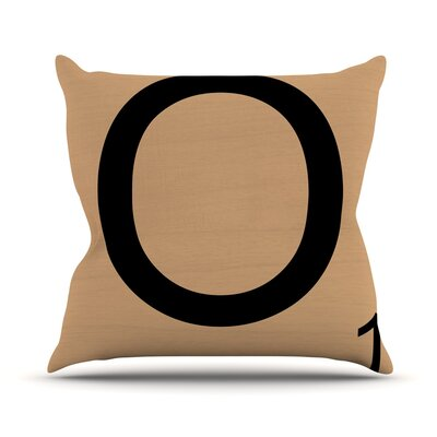 Love Letters Throw Pillow Size: 16 H x 16 W x 4 D