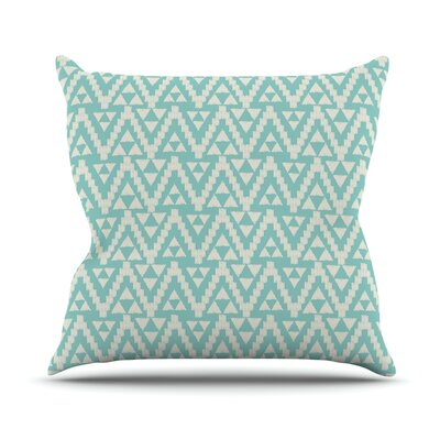 Geo Tribal by Amanda Lane Throw Pillow Size: 18 x 18, Color: Turquoise