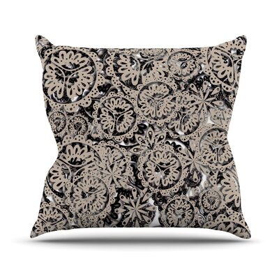 Snowflakes by Akwaflorell Throw Pillow Size: 18 H x 18 W x 3 D
