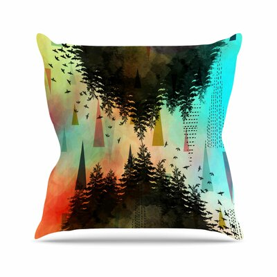 As Above, So Below AlyZen Moonshadow Throw Pillow Color: Turquoise