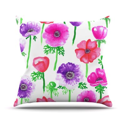 Anemones Anneline Sophia Throw Pillow