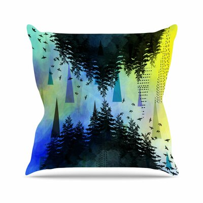 As Above, So Below AlyZen Moonshadow Throw Pillow Color: Blue