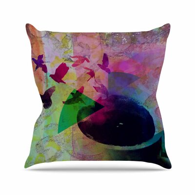 Tea Birds AlyZen Moonshadow Throw Pillow