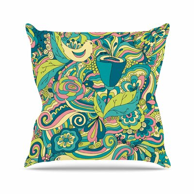 Birds in Garden Alisa Drukman Throw Pillow