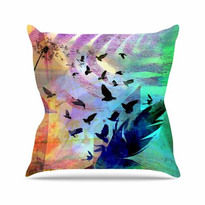 Not Quite Birds of a Feather AlyZen Moonshadow Throw Pillow
