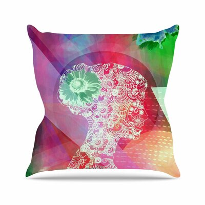 Silhouette AlyZen Moonshadow Throw Pillow Color: Pink