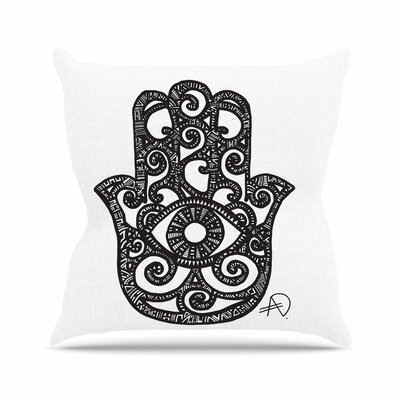 Hamsa Hand Adriana De Leon Throw Pillow