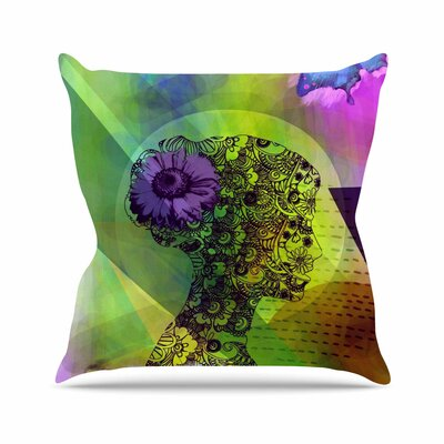 Silhouette AlyZen Moonshadow Throw Pillow Color: Green / Purple
