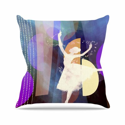 Ballet by Alyzen Moonshadow Throw Pillow Size: 18 x 18, Color: Pink