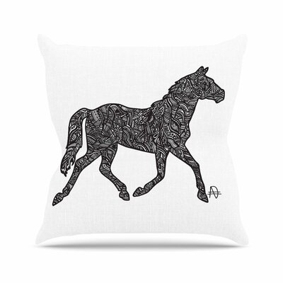 Horsie Adriana De Leon Throw Pillow