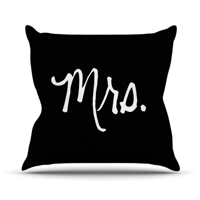 Mrs. Couples Throw Pillow Size: 26 H x 26 W x 4 D, Color: Black