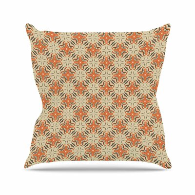 Geometric Tile Mayacoa Studio Throw Pillow Size: 18 H x 18 W x 4 D