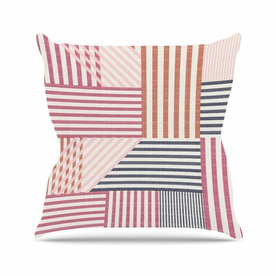 Mod Linework Pellerina Design Throw Pillow Size: 18 H x 18 W x 4 D