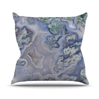 Pastel Geode Throw Pillow Size: 18 H x 18 W x 4 D