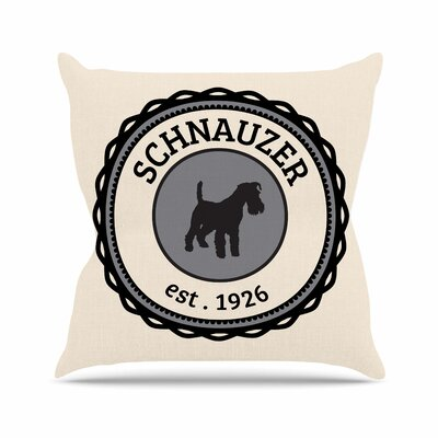 Schnauzer Throw Pillow Size: 26 H x 26 W x 4 D